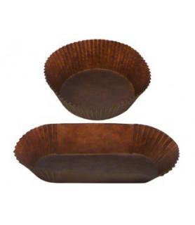 caissettes plissées brunes