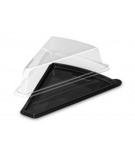 Boîte triangle fond noir + couvercle transparent
