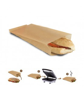 SAC SANDWICH GRILL BAG PAPIER CUISSON KRAFT BRUN