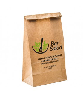 Sac kraft SOS personnalisé pour la vente à emporter - snacking