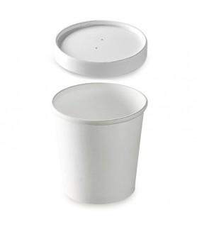 Pot à soupe carton blanc isolant