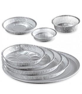 Tourtière alu pour tartes, quiches, emballage aluminium boulangerie, restaurant traiteur