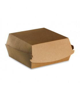 Boîte hamburger kraft vente a emporter burger bagel