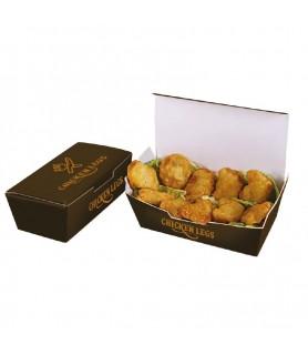 Boîte nuggets à emporter - boite personnalisée snacking pas cher