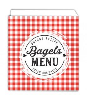 Sac bagel / bagnat / crêpe personnalisé ouvert 2 côtés