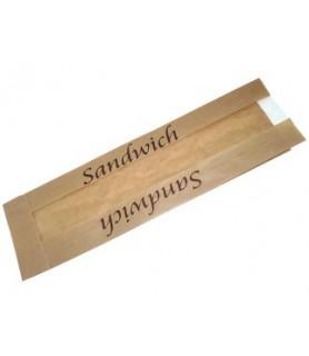 Sac sandwich kraft brun avec fenêtre - emballage snacking vente a emporter