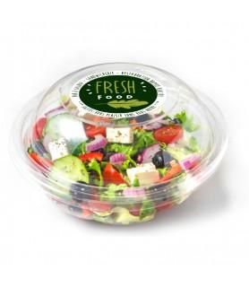 Etiquette personnalisée ronde pour boite salade