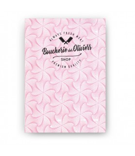 Papier duplex blanc ou motif rose personnalisé