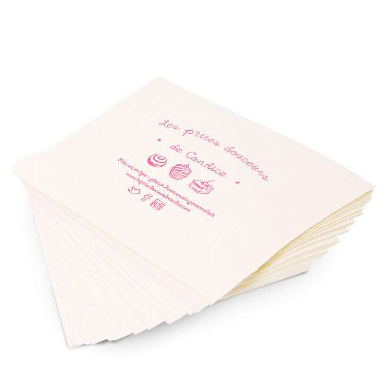 Papier kraft blanchi personnalisé