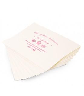 Papier kraft blanchi personnalisé en format - aliments secs