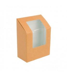 boite wrap a emporter, emballage kraft snacking wrap, tortillas