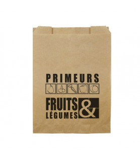 Sacs fruits kraft anti-humidité