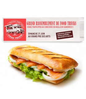 Sac sandwich personnalisé - sac sandwich blanc personnalisé en 2 couleurs