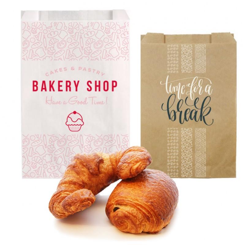 sac croissant personnalisé pas cher - emballage boulangerie personnalisé