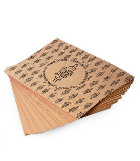 Papier kraft brun  personnalisé - papier alimentaire en format pas cher