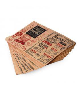 Papier anti-gras kraft brun 35g +PE 9g personnalisé - papier enduit pe kraft brun pas cher