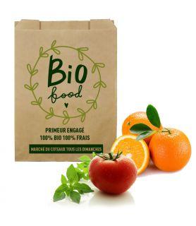 Sac fruits légumes primeur kraft personnalisé - impression rapide EXPRESS