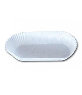 caissette blanche papier allongée pour éclairs, patisseries allongées