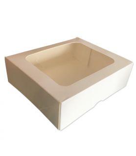 Boîte pâtissière rectangle avec fenêtre boulangerie patisserei