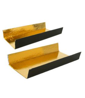 Fond plié or/noir pour bûche de Noel