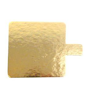 Languette or/noir carrée, emballage patisserie
