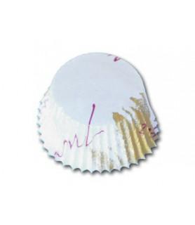 caissette ronde décorée pour muffins cupcake patisserie ronde à cuire