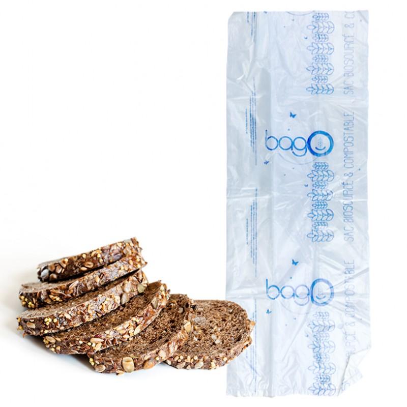 Sac à pain tranché biosourcé translucide