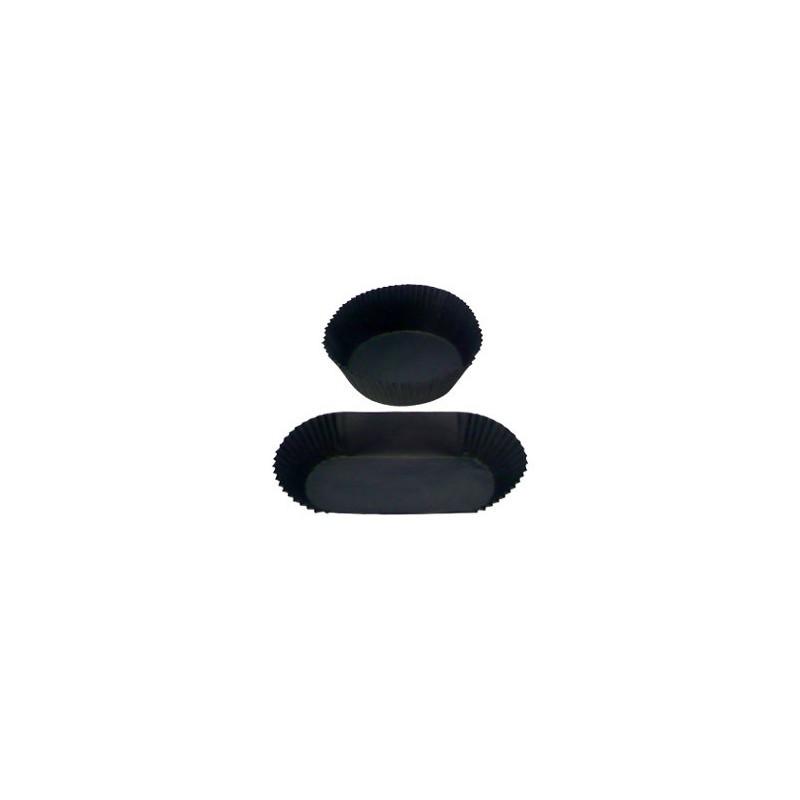 caissettes plissées noires