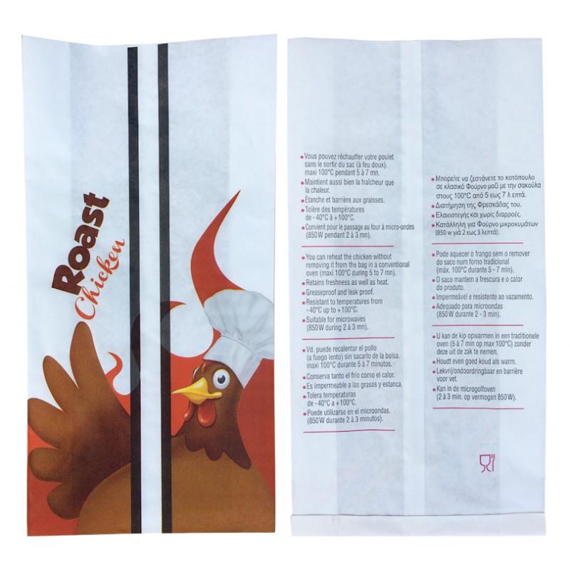 Sac poulet et poularde XL, emballage rotisserie