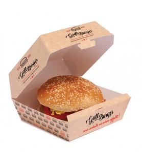Boîte burger ext. kraft int. blanc personnalisée encrage 30%