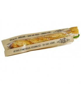 Sac sandwich kraft brun avec fenêtre personnalisé - emballage snacking vente a emporter