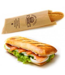 sac sandwich kraft brun vergé