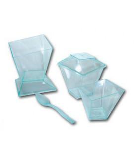 Verrines coupe et couvercle cristal
