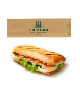 Sac sandwich kraft brun vergé personnalisé