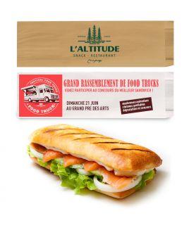 Sac sandwich kraft personnalisé