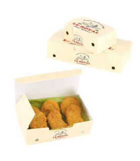 Boîte plat chaud personnalisée à emporter avec trous