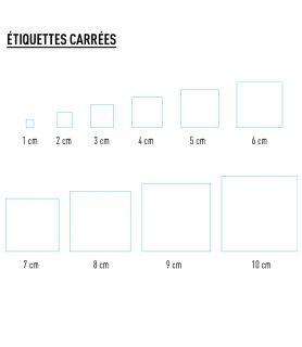 Etiquette personnalisée carrée