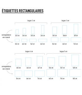 Etiquette personnalisée rectangulaire