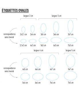 Etiquette personnalisée ovale