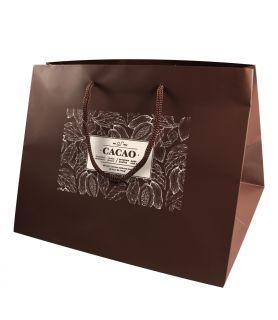 Sac cabas luxe chocolat personnalisé