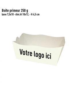Caissette primeur 250g blanche personnalisée