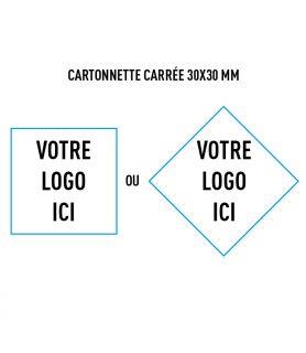 Cartonnette carrée 30x30 mm personnalisée