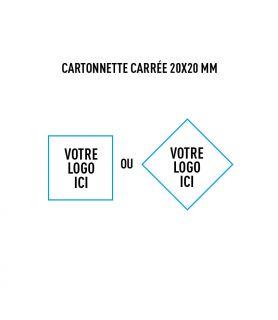 Cartonnette carrée 20x20 mm personnalisée