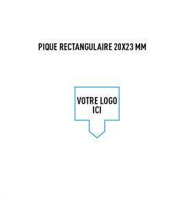 Pique rectangulaire 20x23 mm personnalisé