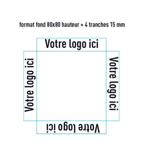 Support 80x80 + 4 tranches H 15 mm