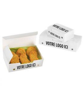 Boîte plats chauds avec trous - support blanc