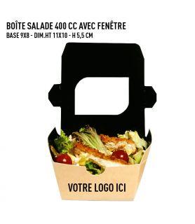 Boîte salade 400 avec fenêtre