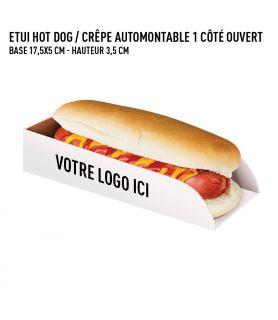 Etui hot-dog / crêpe carton blanc