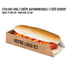 Etui hot-dog / crêpe ext. kraft int. blanc