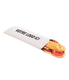 Etui sandwich cartonné personnalisé - support blanc